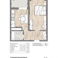 ЖК Южный квартал, планировка 1 комнатной квартиры (6)