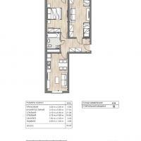ЖК Южный квартал, планировка 2 комнатной квартиры (3)