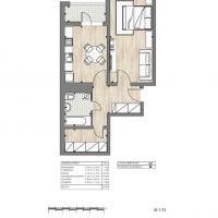 ЖК Южный квартал, планировка 1 комнатной квартиры (2)