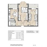 ЖК Южный квартал, планировка 2 комнатной квартиры (4)