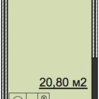 Планировка студии 26,9 кв.м.