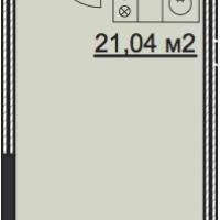 Планировка студии 27,0 кв.м.