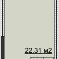 Планировка студии 28,7 кв.м.