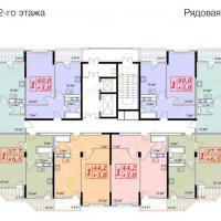 жк Владимирская 150, 2 секция, 12 этаж