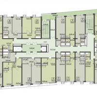 Планировка типового этажа в ЖК Мечта (тип 2)
