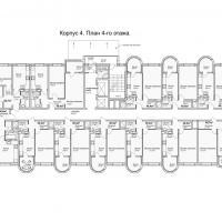 ЖК Кавказ, этап 3, планировка этажа 4