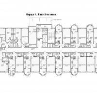 ЖК Кавказ, этап 3, планировка этажа 5