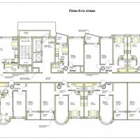 ЖК Меркурий планировка 6 этажа