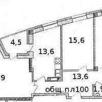 Планировка трехкомнатной квартиры, тип 4