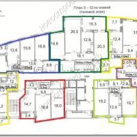 Поэтажная планировка расположения квартир