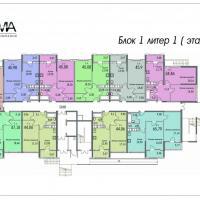 Планировки домов №2, 3, 4 , этаж 1-2, сдача в середине 2017 и в конце 2018 года