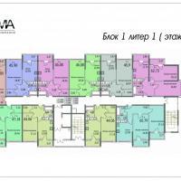 Планировки домов №2, 3, 4 , этаж 3-10, сдача в середине 2017 и в конце 2018 года