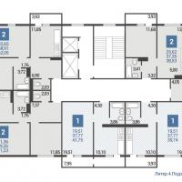 Литер 4 подъезд 3 план типового этажа