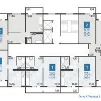 Литер 4 подъезд 5 план типового этажа