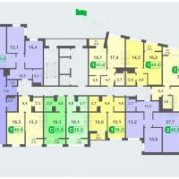 Планировки - литер А, этаж  15 - 16