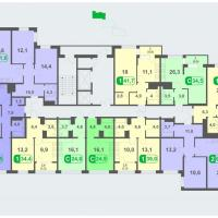 Планировки - литер А, этаж 2- 5