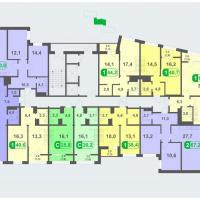 Планировки - литер Б, этаж 17 - 19