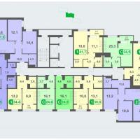 Планировки - литер Б, этаж 2 - 5