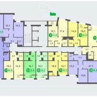 Планировки - литер Б, этаж 15 - 16