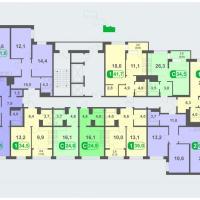 Планировки - литер В, этаж 2 - 5