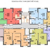 ЖК Некрасовский, секция 1, этаж 6