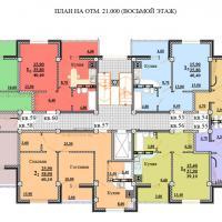 ЖК Некрасовский, секция 1, этаж 8