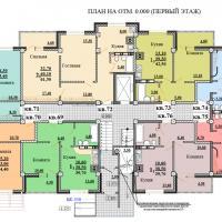 Планировки ЖК Некрасовский, секция 2, этаж 1