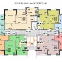 Планировки ЖК Некрасовский, секция 2, этаж 2