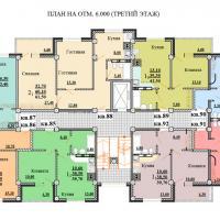Планировки ЖК Некрасовский, секция 2, этаж 3