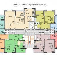 Планировки ЖК Некрасовский, секция 2, этаж 4