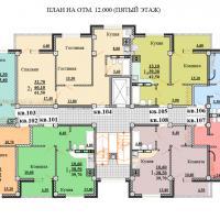 Планировки ЖК Некрасовский, секция 2, этаж 5