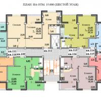 Планировки ЖК Некрасовский, секция 2, этаж 6