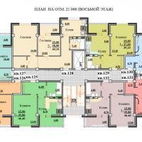 Планировки ЖК Некрасовский, секция 2, этаж 8