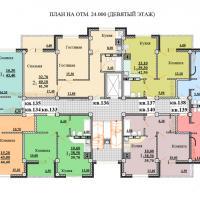 Планировки ЖК Некрасовский, секция 2, этаж 9