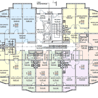 ЖК Метеора в Анапе, секция 1, план 12 этажа