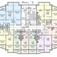ЖК Метеора в Анапе, секция 1, план 13 этажа