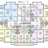 ЖК Метеора в Анапе, секция 2, план 13 этажа