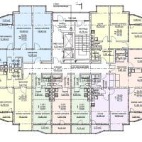 ЖК Метеора в Анапе, секция 1, план 14 этажа