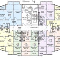 ЖК Метеора в Анапе, секция 2, план 14 этажа