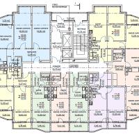 ЖК Метеора в Анапе, секция 1, план 16 этажа