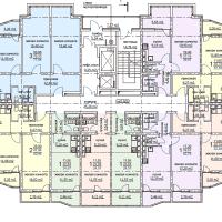 ЖК Метеора в Анапе, секция 2, план 16 этажа