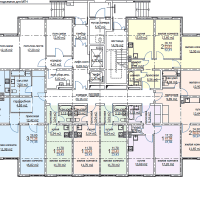 ЖК Метеора в Анапе, секция 1, план 1 этажа