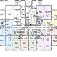 ЖК Метеора в Анапе, секция 2, план 1 этажа