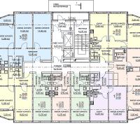 ЖК Метеора в Анапе, секция 1, план 2 этажа
