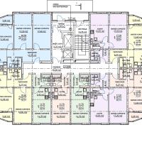 ЖК Метеора в Анапе, секция 2, план 2 этажа