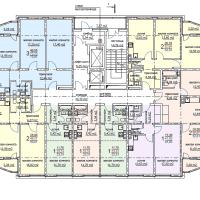 ЖК Метеора в Анапе, секция 1, план 3 этажа