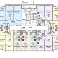 ЖК Метеора в Анапе, секция 2, план 3 этажа