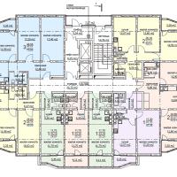ЖК Метеора в Анапе, секция 1, план 4 этажа
