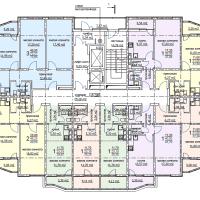 ЖК Метеора в Анапе, секция 2, план 4 этажа