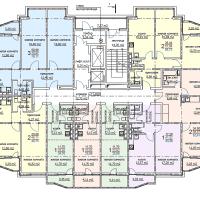 ЖК Метеора в Анапе, секция 1, план 5 этажа